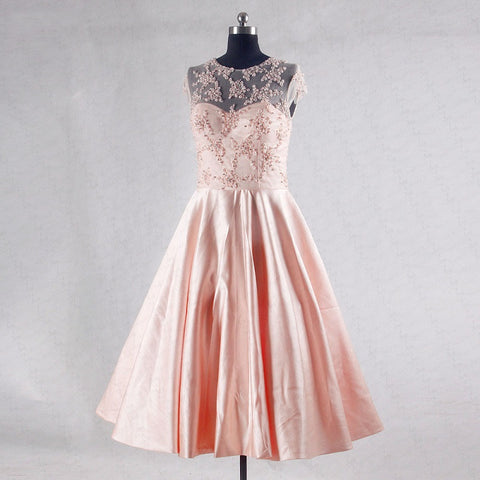 Cap sleeve A-line homecoming dresses satin short party dress T07