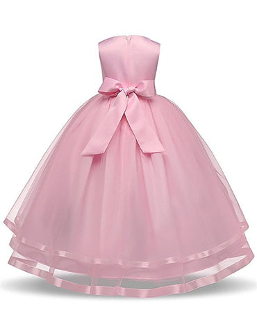 Flower girl dresses organza tutu floor length S92