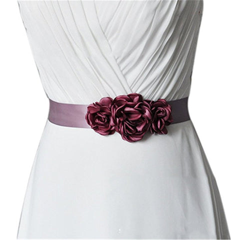 Handmade flowers belt for sash dress accessories S90