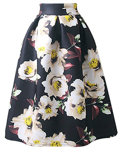 Ladies retro pleated skirt for winter knee length skirt S31