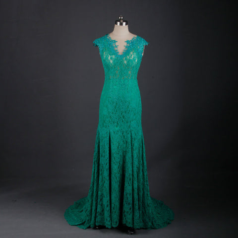 Long backless emerald green sexy mermaid formal dresses B27