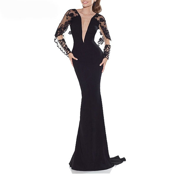 Mermaid evening dresses deep V-neck Jersey formal dresses for sale –  CCoutueChen cd92682df