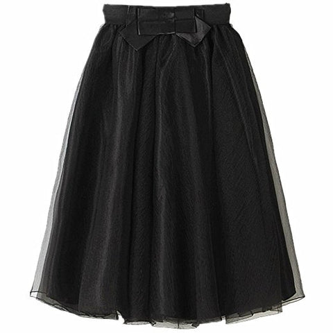 Organza and silk casual  knee length tutu skirt S63