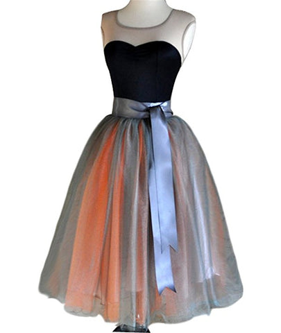 Princess knee-length tulle tutu skirt S81