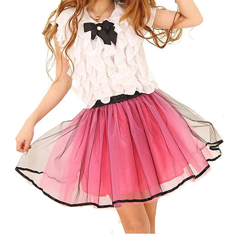 Princess tutu tulle midi short skirt S130