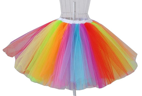 Rainbow tulle tutu skirts for mother and baby S85