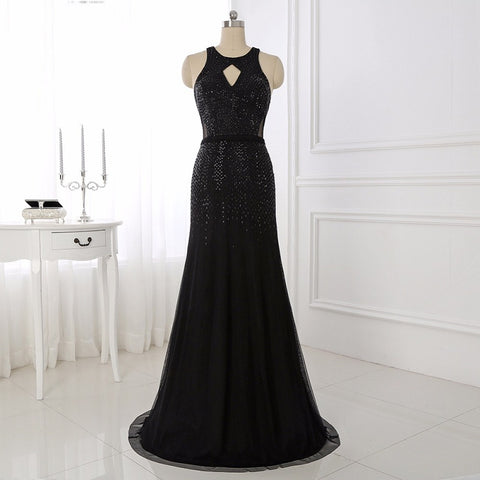 Scoop neck evening dresses tulle mermaid party dress E35