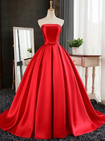 Sexy strapless prom dresses long evening party dress B64