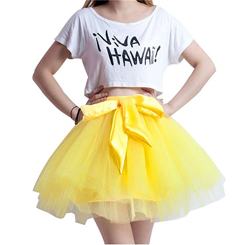 Short tutu skirt with multi-layer frilly petticoat S129