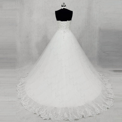 Simple and elegant halter neckline princess wedding dresses W04