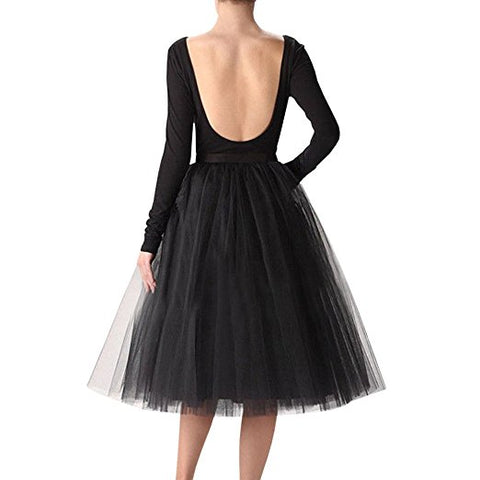 Tutu tulle skirts A-line knee-length skirt S75