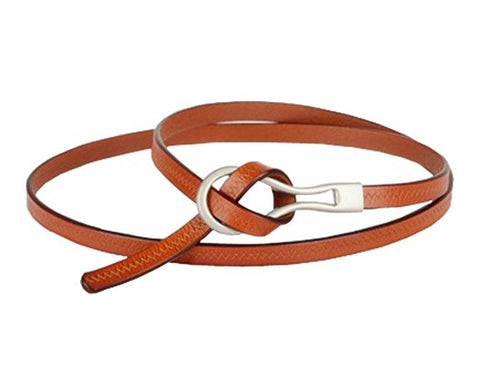 Women adjustable leather belts thin waist strap accessories S73