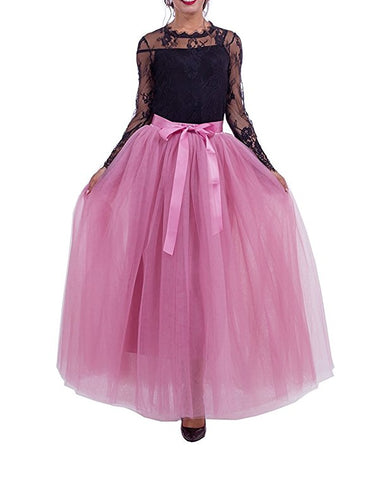 Women long tutu tulle maxi skirt S117