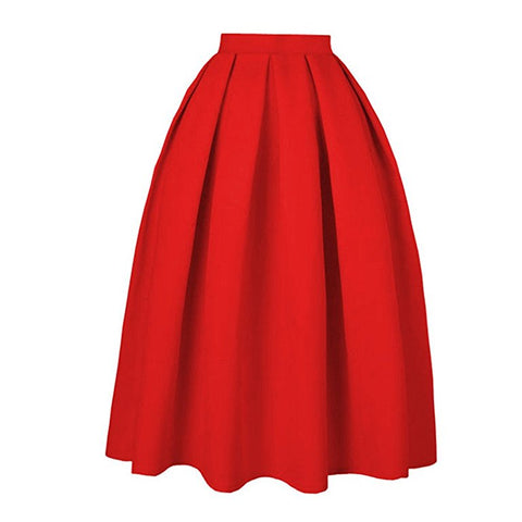 Women pleated knee-length skirts vintage S114