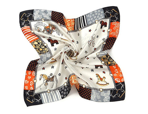 Women's girl's 100% mulberry silk square scarf accessories S89