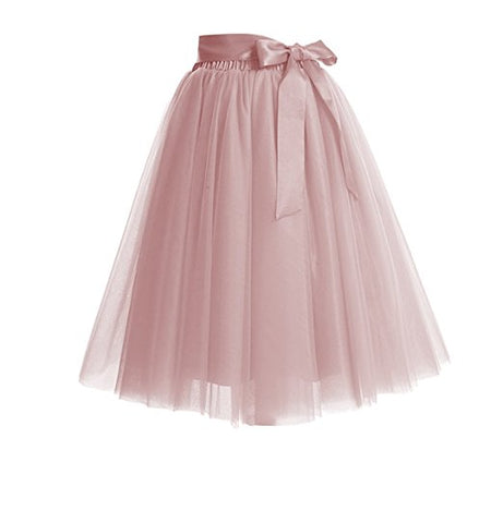 Women's princess skirts tulle tutu skirt with bow S64