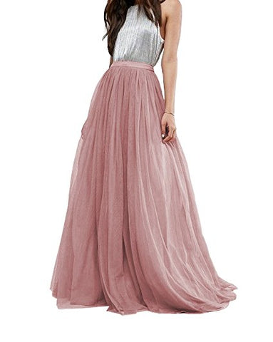Women's tulle long skirt floor length tutu skirts S54