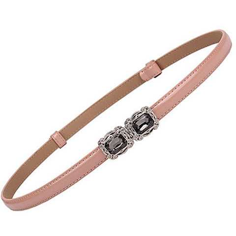 Women's color diamond-set buckle stretch adjustable belt accessories S56