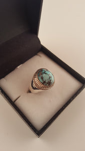 Sky Blue Turquoise (Fairouz) Silver Ring