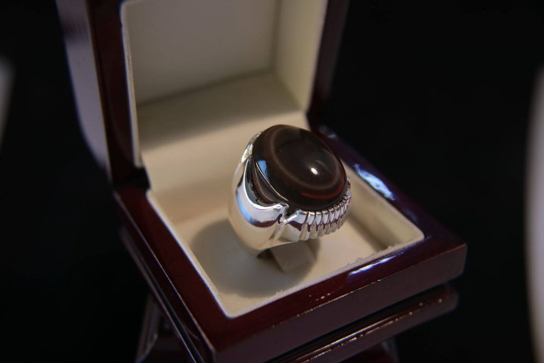 Sulaimani Agate Silver Ring