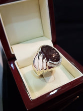 Cherry Red Engraved Agate Silver Ring