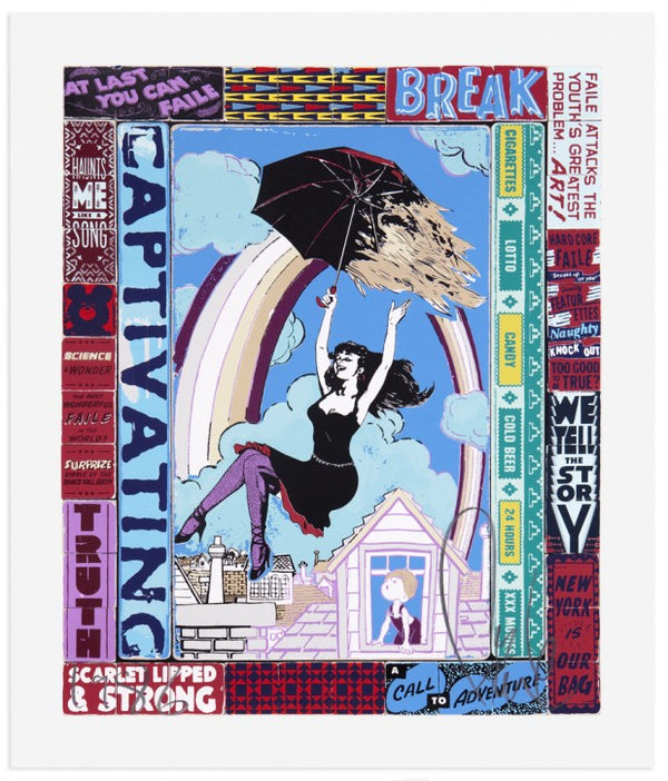 "A Call to Adventure by Faile, 24"" X 28.75"", Screen Print"