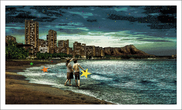 "When You Wish Upon a Star - Hawaii by Roamcouch, 35.5"" X 21.5"", Screen Print"