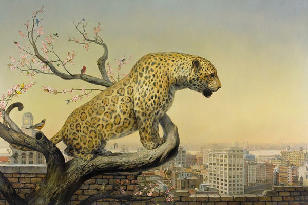 "The Aviary by Martin Wittfooth, 30"" x 21"", Fine Art Giclee on Moab Entrada 300 gsm cotton archival rag paper"