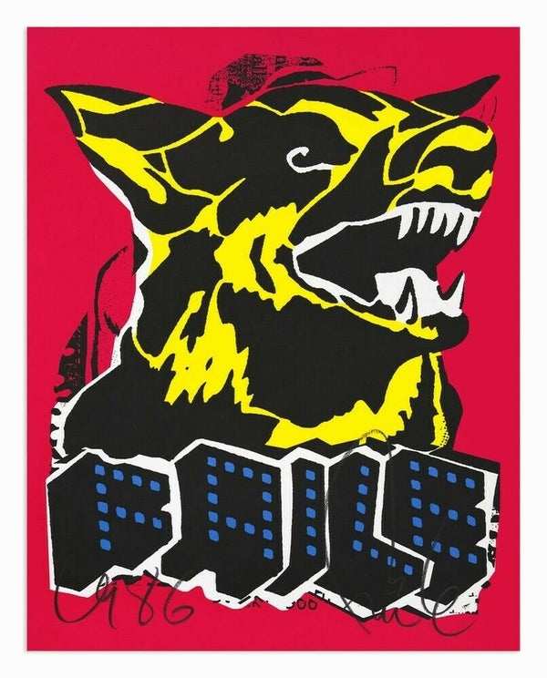 Faile Dog (Blacklight) by Faile