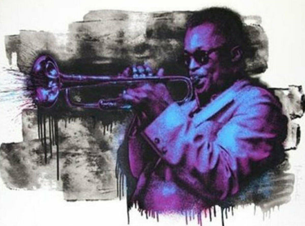 "Miles Davis by Mr. Brainwash, 30"" X 22.5"", Screen Print on hand-torn archival"