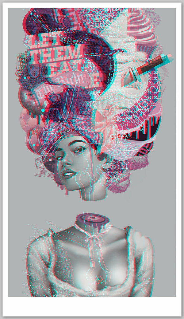 "The October March by Tristan Eaton, 24"" x 42"", Fine Art Giclee on Moab Entrada 290gsm Cotton Rag paper"