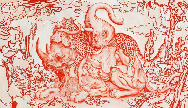 "Big Five by James Jean, 33"" x 22"", Offset Lithograph"