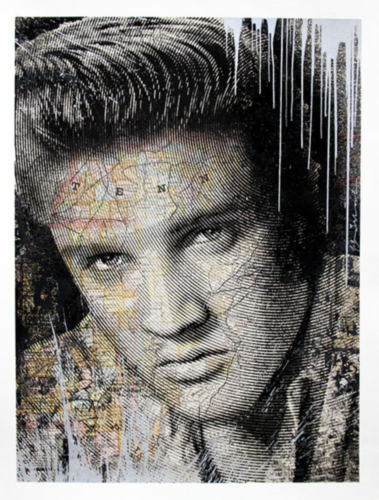 King of Rock and Roll by Mr. Brainwash