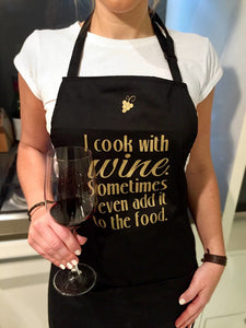 Cook with wine apron