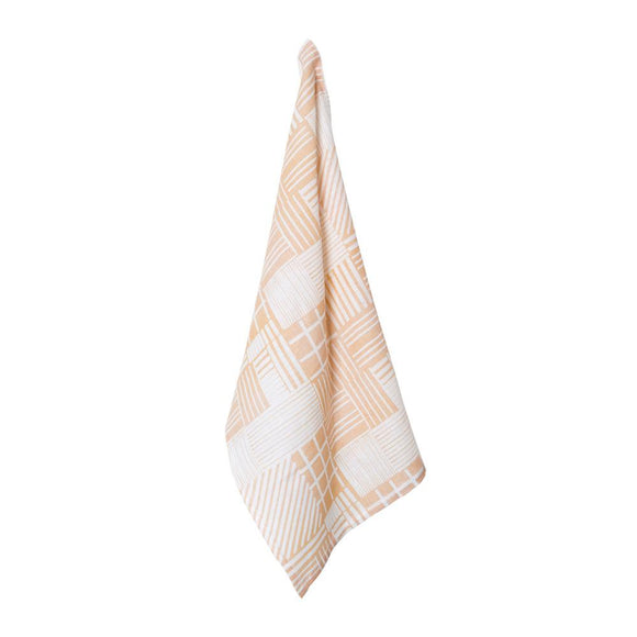 Rue Linen Tea Towel 50x70cm Blush