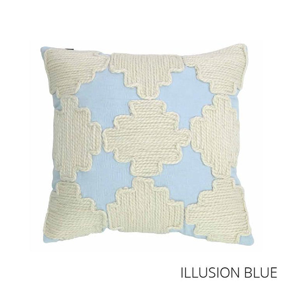 Sebastian Cushion 43x43cm - Illusion Blue