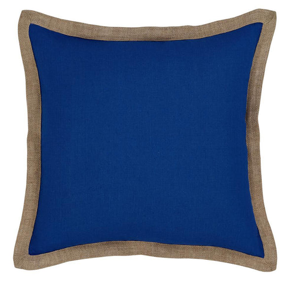 Hampton Cushion - Santorini Blue