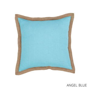 Hampton Linen Cushion 50x50cm - Angel Blue