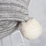 Calgary Knitted Pom Pom Cushion 50x50cm Charcoal