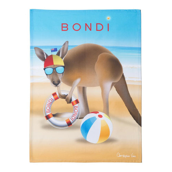 CVD - Bondi Beach Tea Towel 50x70cm Multi