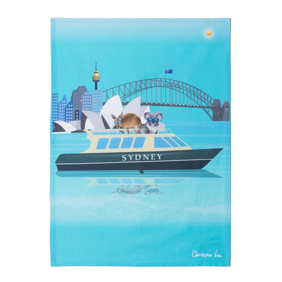 CVD - Sydney Harbour Tea Towel 50x70cm Multi