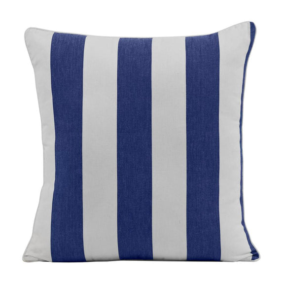 Stripe Cushion 45x45cm Blue