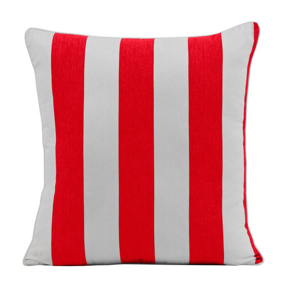 Stripe Cushion 45x45cm Red
