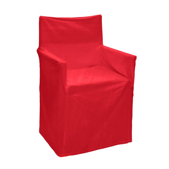 Solid Director Chair Cover Red