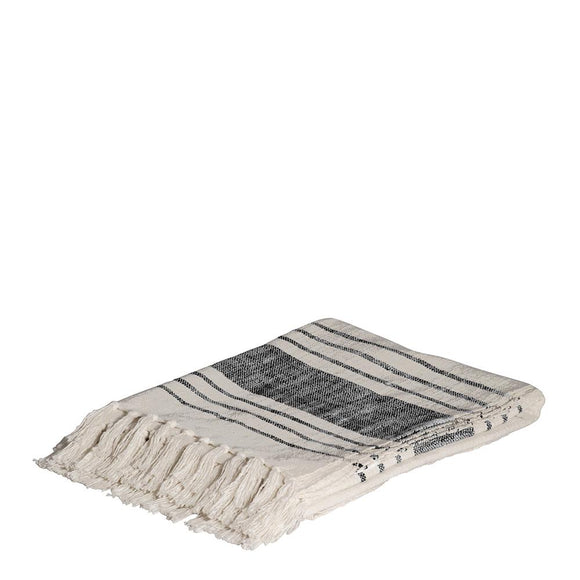 Ember Slub Throw 125x150cm Natural/Black