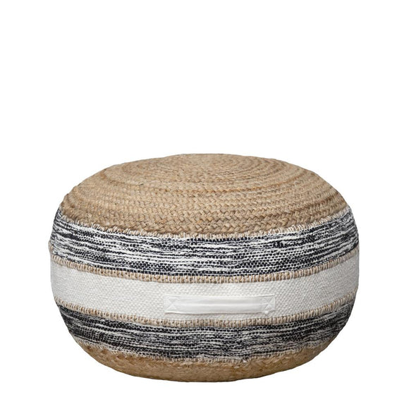 Lyra Ottoman 55x55x30cm Natural/Black; ETA Mid December