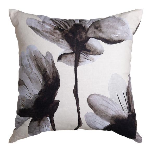 Floryn Digital Printed Cushion 50x50cm Ivory/Black