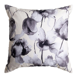 Freya Digital Printed Cushion 50x50cm Ivory/Black