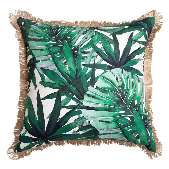 Borneo Digital Printed Cushion 50x50cm Green