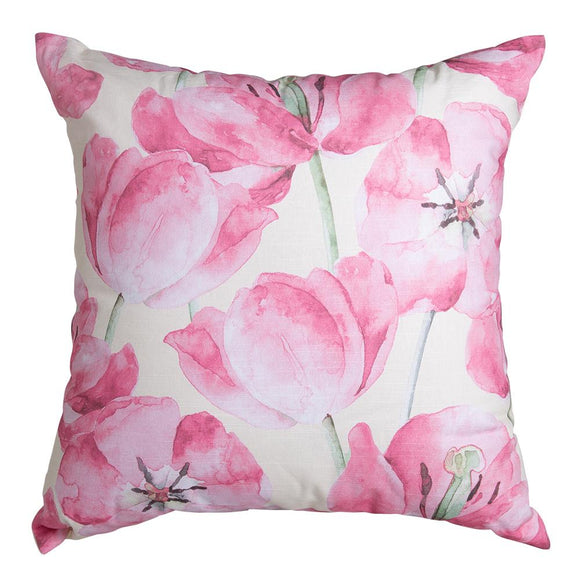 Kalina Digital Printed Cushion 50x50cm Ivory/Pink